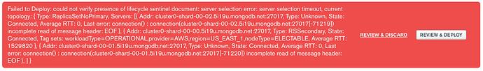 mongo error 1