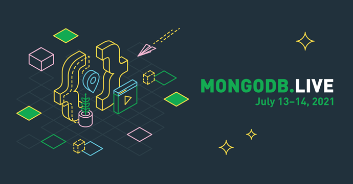 MongoDB .live Banner with dates of conference: July 13 - 14