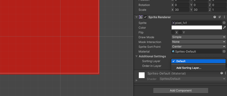 Add Sorting Layer to Sprite Rendering in Unity