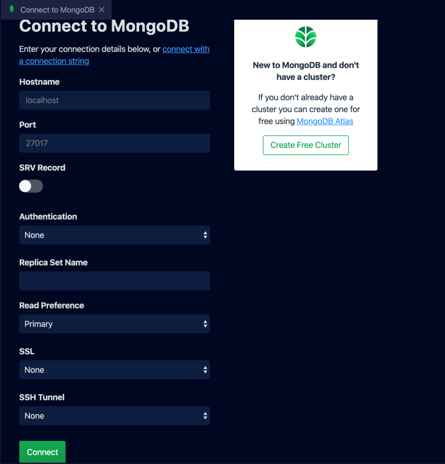 Connect to MongoDB