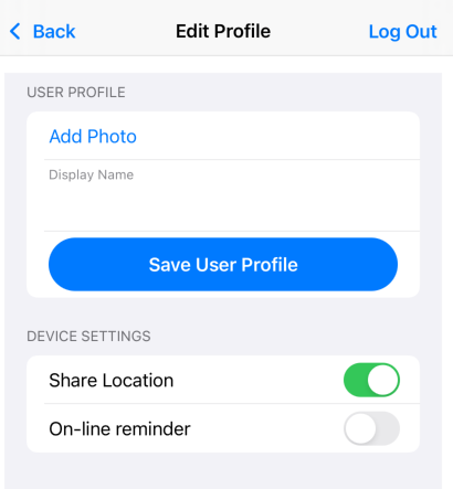 Save user profile information through the iOS app